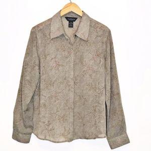 Van Heusen | Women's Button Up Blouse L